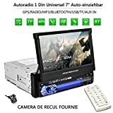 OUTAD Autoradio Bluetooth GPS, 7' Wince 2 DIN MP5...